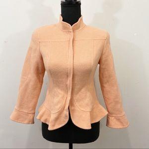 CARLISLE Wool Angora Peplum Jacket Size 4